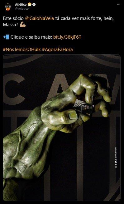 Espora 13 - Atlético - Galo - Atlético-MG - Hulk - Hulk é do Galo! Atlético anuncia atacante como novo reforço