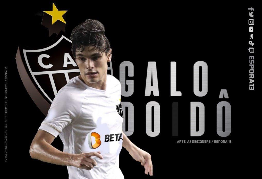 Espora 13 - Atlético - Galo - Atlético-MG - Dodô - Atlético anuncia o lateral-esquerdo Dodô para a temporada 2021