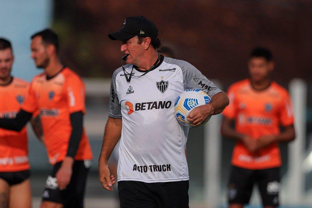 Espora 13 - Atlético - Galo - Atlético-MG - Visando confronto contra o Boca, Cuca indica time alternativo no jogo contra o Corinthians pelo Brasileirão