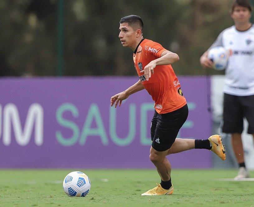 Espora 13 - Atlético - Galo - Atlético-MG - Nos treinos o atacante Savarino foi peça fundamental do time do Cuca para o jogo contra o River Plate no Mineirão